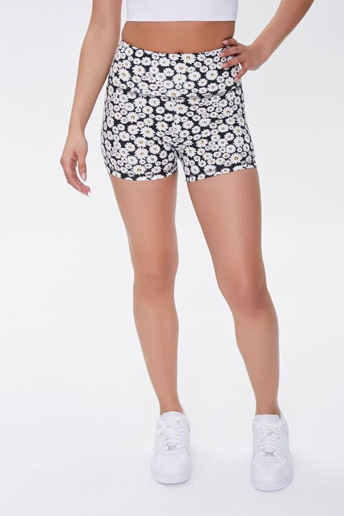 Active Daisy Print Shorts, image 2