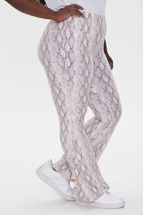 Plus Size Jordyn Snake Print Flare Pants, image 3