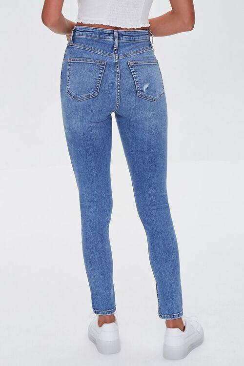 MEDIUM DENIM Premium High-Rise Skinny Jeans, image 4