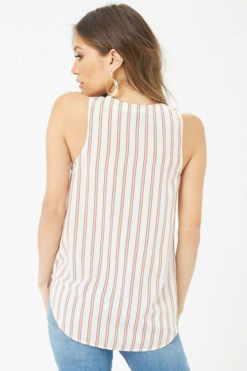 Striped V-Neck Top, image 3