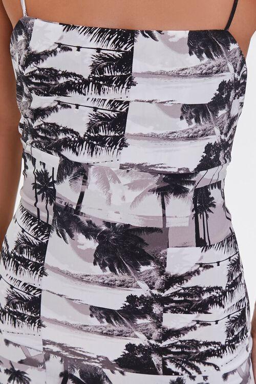 BLACK/MULTI Palm Tree Print Mini Dress, image 5