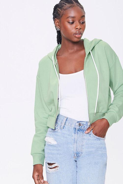 Basic Fleece Zip-Up Hoodie, image 1