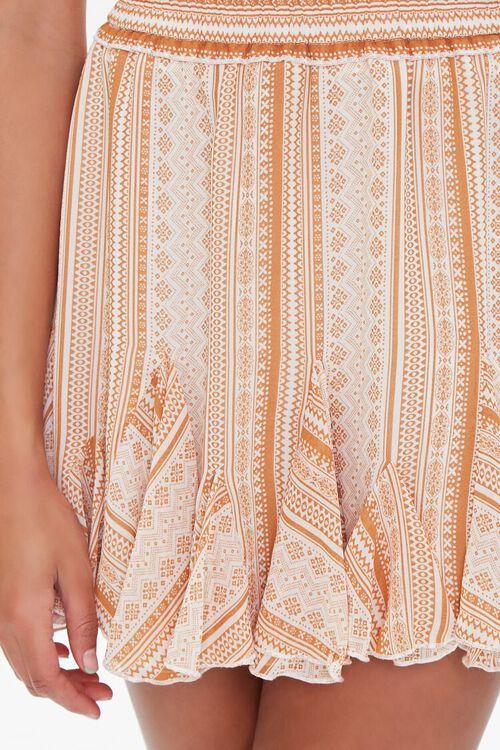 Ornate Print Godet Mini Skirt, image 5