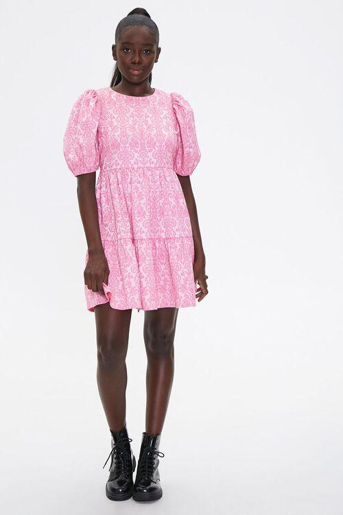 Baroque Print Mini Dress, image 4