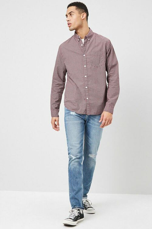 Fitted Geo Print Shirt, image 4