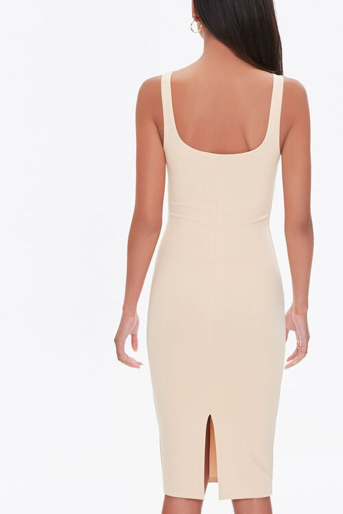 TAUPE Scoop Bodycon Dress, image 3