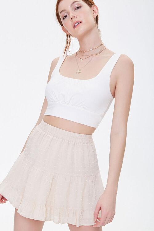 Clip Dot Tiered Mini Skirt, image 1