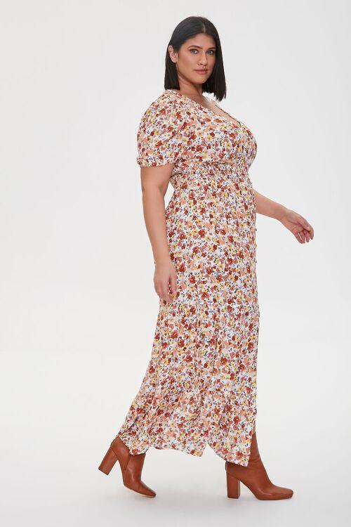 Plus Size Floral Print Maxi Dress, image 3