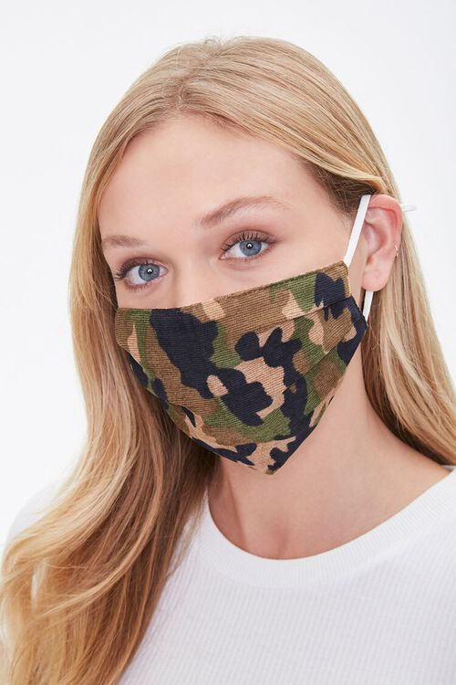Camo Print Face Mask, image 1