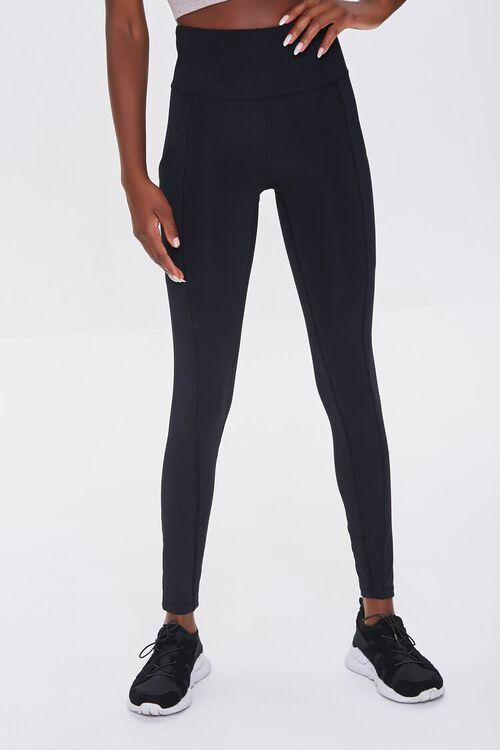 BLACK Active High-Rise Leggings, image 2