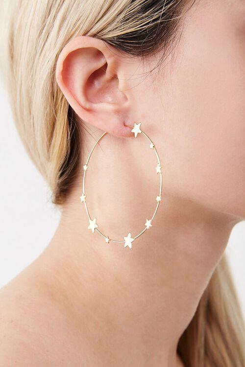 Star Hoop Earrings, image 2