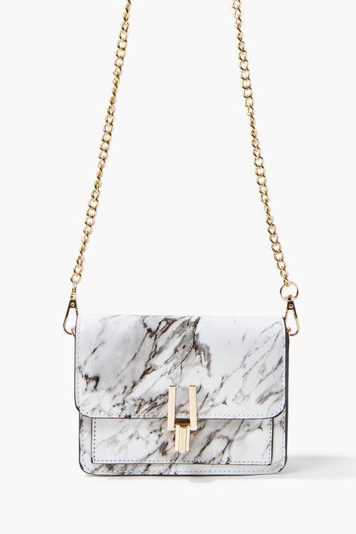 Marbled Flap-Top Crossbody Bag, image 1