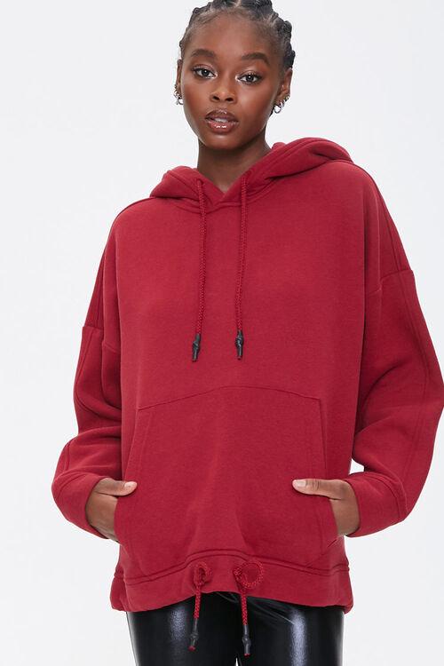 Fleece Drawstring Hoodie, image 1