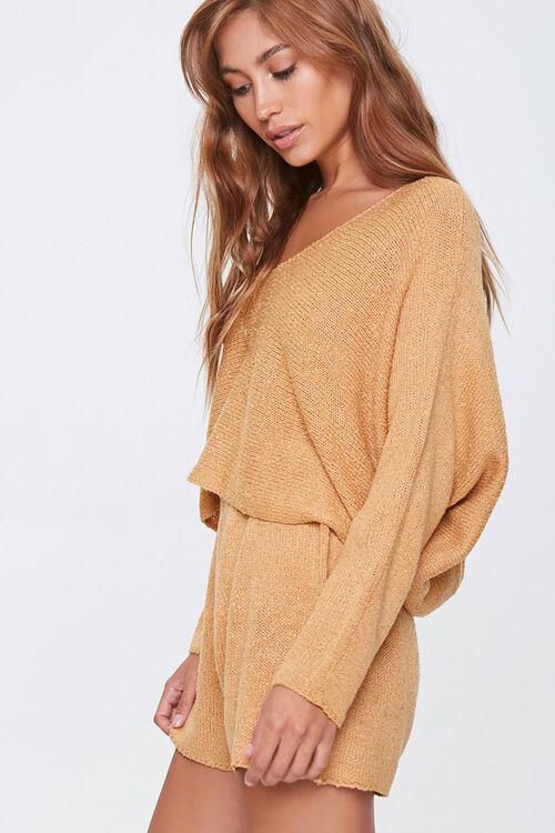 Boucle Knit Sweater & Shorts Set, image 2