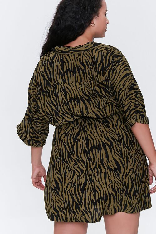 Plus Size Tiger Striped Dress, image 3