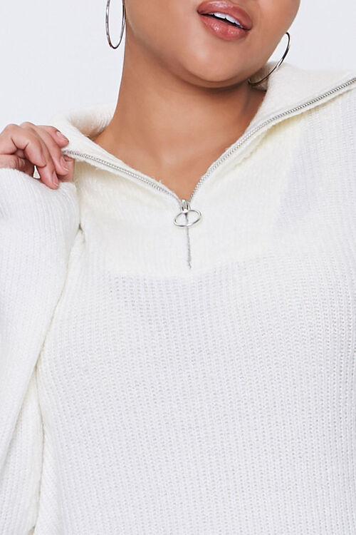 Plus Size Ribbed Mock Neck Sweater, image 5