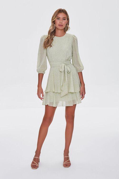 Dotted Chiffon Mini Dress, image 4
