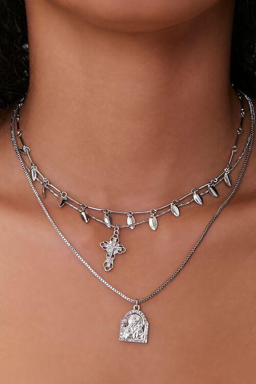 Cross Pendant Choker Necklace Set, image 1
