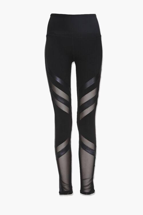 Active Diagonal-Striped Leggings, image 1