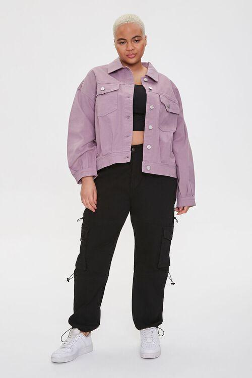 Plus Size Drop-Sleeve Twill Jacket, image 4