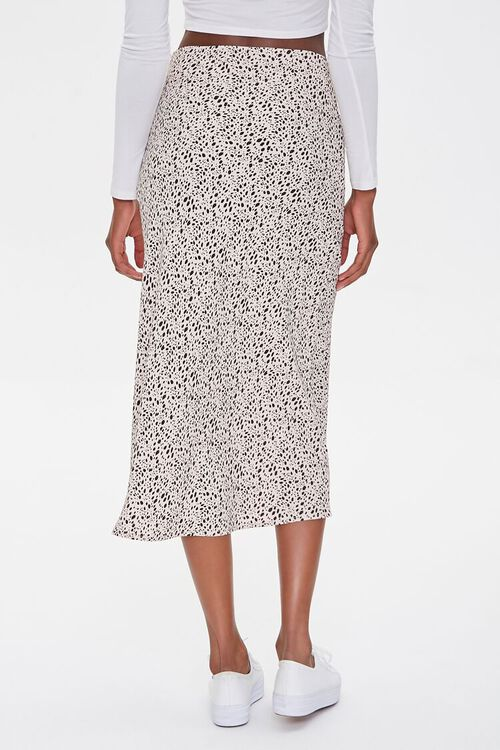 Spotted Print Midi Skirt, image 4