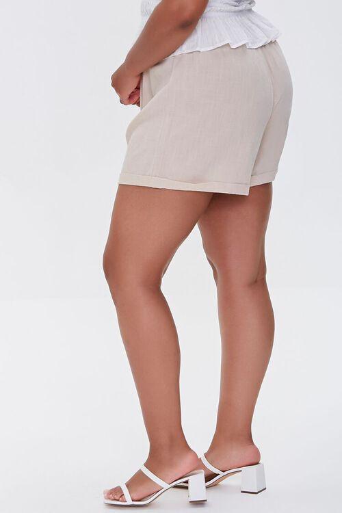 Plus Size Smocked Shorts, image 3