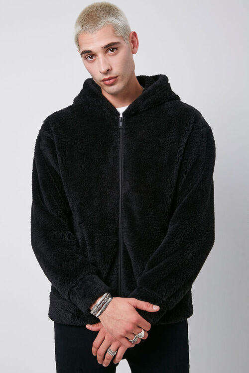 Hooded Teddy Jacket, image 1