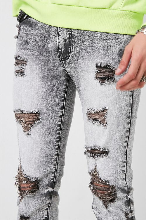 Distressed Bleach Washed Skinny Jeans, image 5