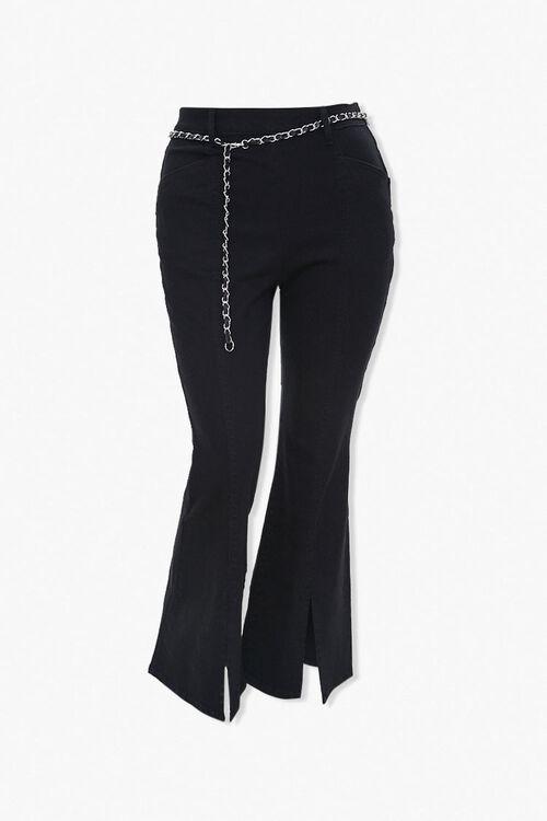 Plus Size Split Flare Jeans, image 1