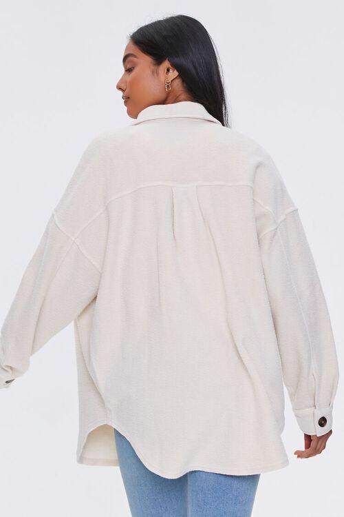 Reverse Cotton Fleece Shacket, image 3