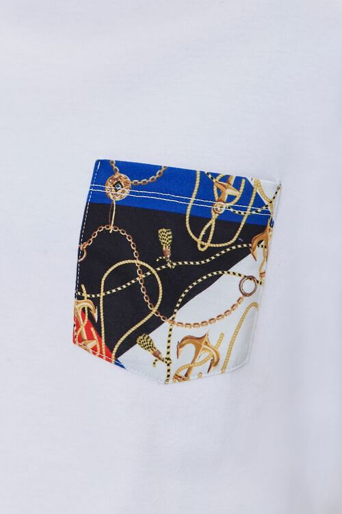 Baroque-Print Pocket Tee, image 5