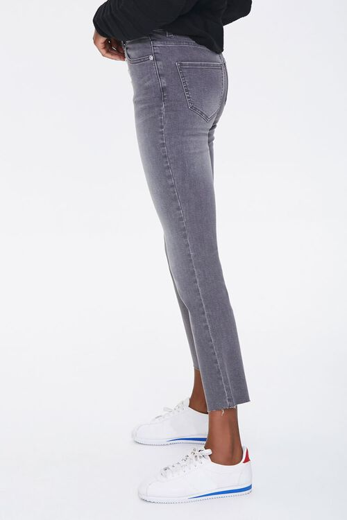GREY High-Rise Flare Ankle Jeans, image 3