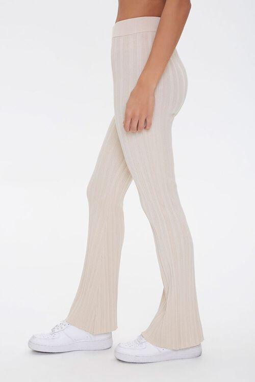 Ribbed Flare-Leg Pants, image 3