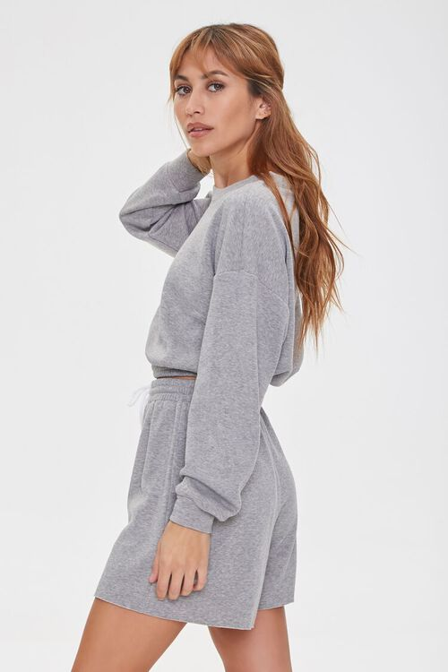 French Terry Pullover & Shorts Set, image 2