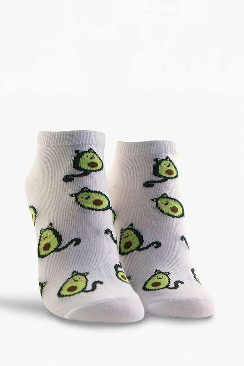 Cat Avocado Ankle Socks, image 1