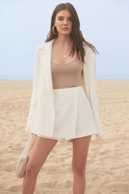 Sweater-Knit Cropped Tank Top, image 1