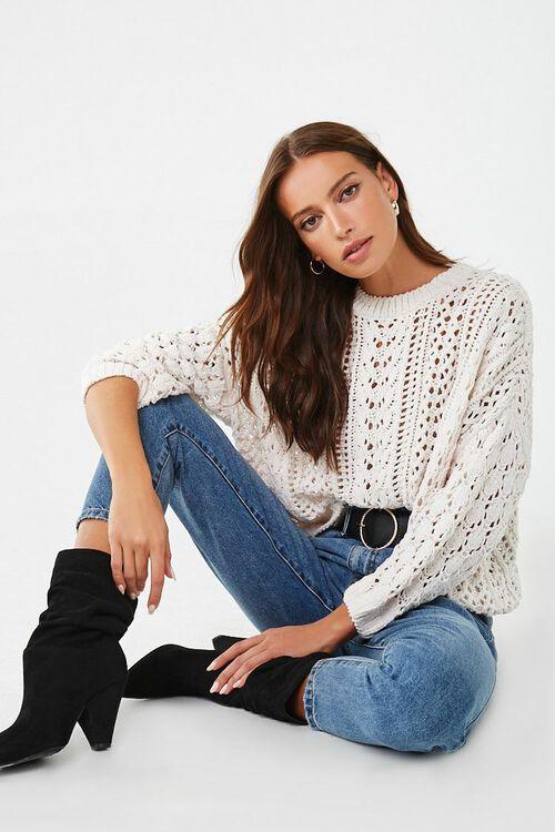 CREAM Open-Knit Chenille Sweater, image 4