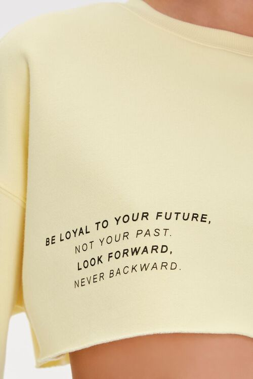 Be Loyal To Your Future Cropped Pullover, image 5