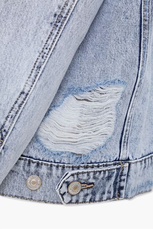 Distressed Boyfriend Denim Jacket, image 5