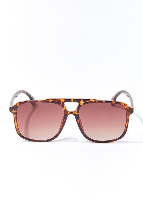 Tortoiseshell Square Sunglasses, image 1