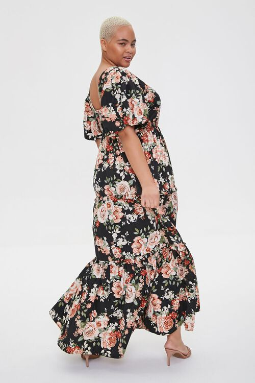 Plus Size Floral Tiered Maxi Dress, image 3