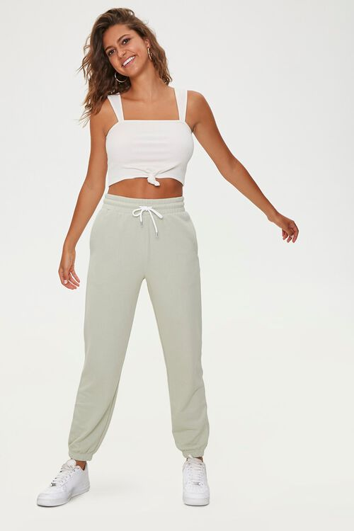 French Terry Drawstring Pants, image 1