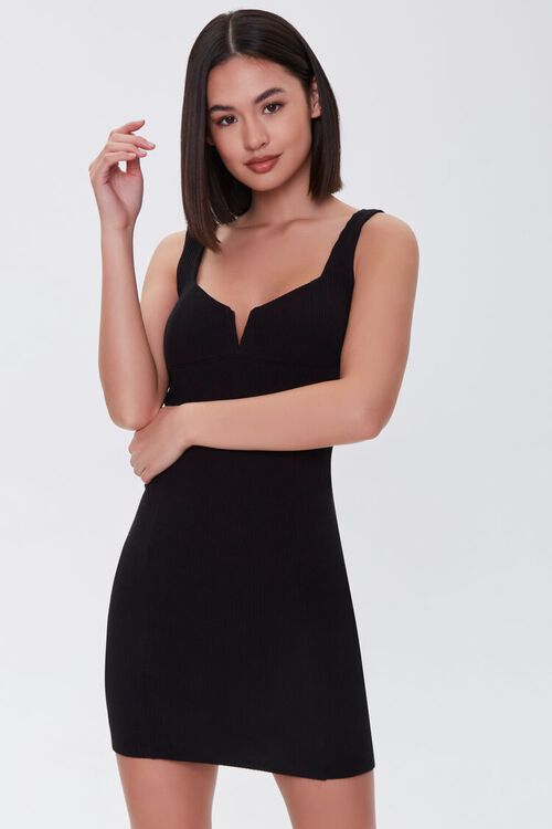 Notched Bodycon Dress, image 1