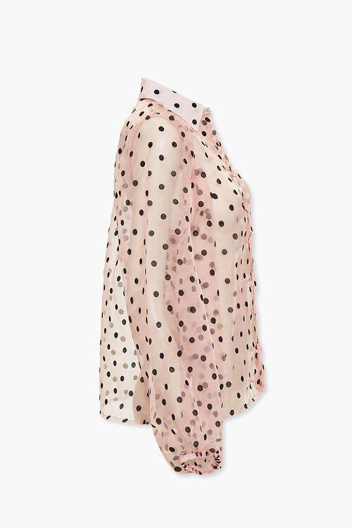 Sheer Organza Polka Dot Shirt, image 2