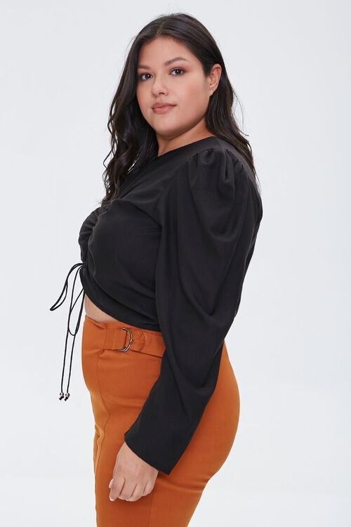 Plus Size Ruched Drawstring Top, image 2