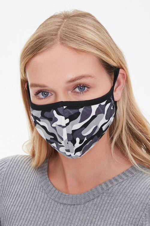 CHARCOAL/HEATHER GREY Camo Print Face Mask Set, image 2