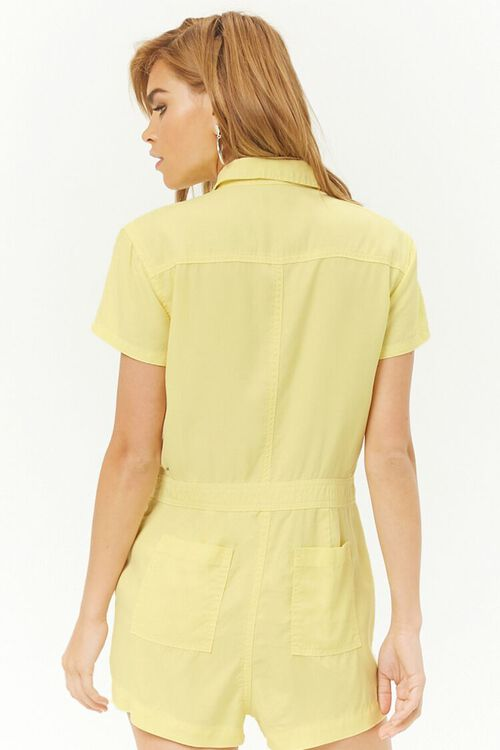 Chambray Button-Front Romper, image 3