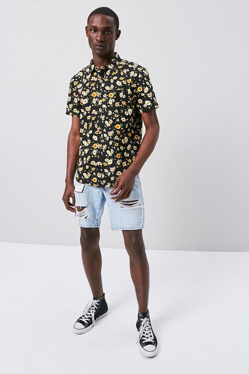 Fitted Daisy Print Shirt, image 4