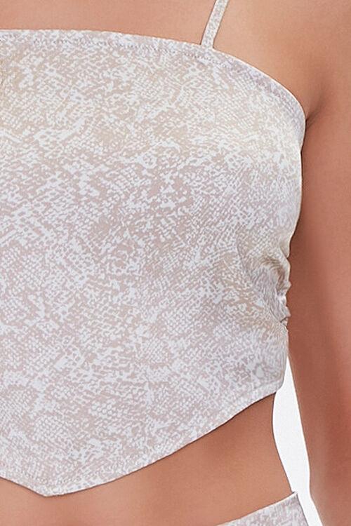 Snake Print Tie-Back Scarf Top, image 5
