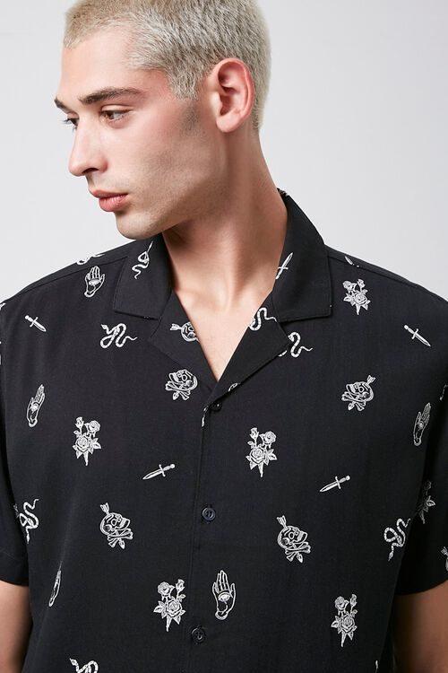 Classic Fit Snake & Skull Print Shirt, image 5